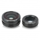 4-in-1 10X Telephoto + Macro + Fish Eye + Wide Angle Lenses Set for IPHONE 5 / 5S - Black