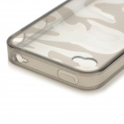 Camouflage Style Protective Plastic Back Case for IPHONE 4 / 4S - Transparent