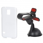 SUNSHINE 360 Degree Rotate Mini Mount Stand + Clip Bracket + Back Case for Samsung Galaxy S5 / i9600