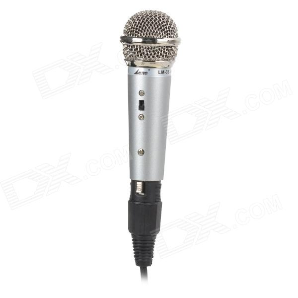 LZZ-13 Mini Aluminum Alloy Children 6.35mm Handhold Microphone - Silver