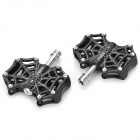 A-01 Cobweb Style Cycling Aluminum Alloy Bike Pedals - Black