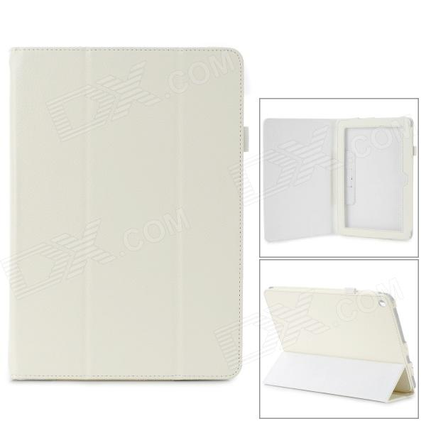 "Stylish Flip-open PU Leather Case w/ Holder for ACER Iconia A3~A10 10.1"" - White"
