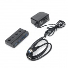 Casis HS0012 4-Port USB 3.0 Hub w/ Independent Switch - Black