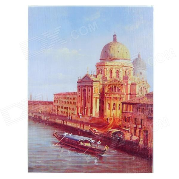 Buy Venice Pattern Linen Oil Painting - Multicolored with Litecoins with Free Shipping on Gipsybee.com
