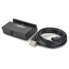IKKI Mini Charging Dock Cradle + Charging/Data Cable for LG Optimus G2 - Black (90cm)