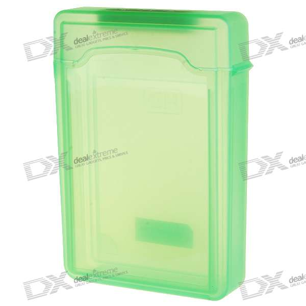 "Protective Plastic Case for 3.5"" SATA HDD (Translucent Green)"