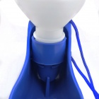 PET Staple Portable Outdoor Dog Automatic Waterer - White + Dark Blue (500mL)