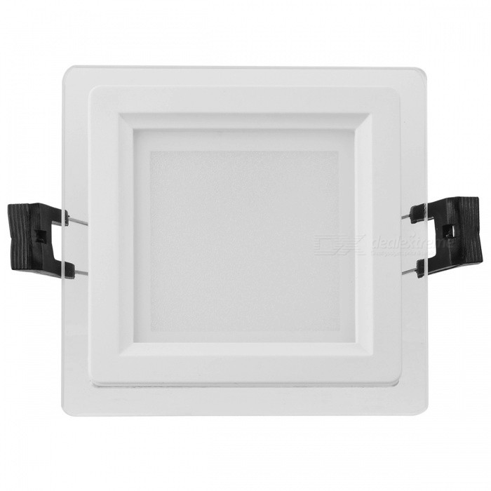 LSON Double-Layer Glass Mirror 6W 500lm 6000K 12-SMD 5730 LED White Ceiling Light (85~265V)