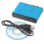 Convenient External USB Optical Sound Card w/ 5.1-CH Hardware & 7.1-CH Analog for PC - Blue + Black