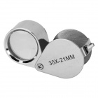 UF-TOOLS ZB 10201 Stainless Steel + Glass 30X Magnifier for Jewelry