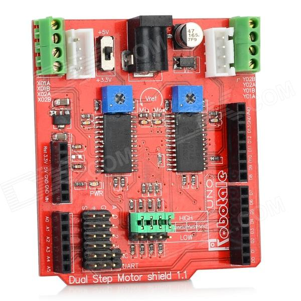 Robotale 2-CH Stepping Motor Driving Plateau d'extension pour Arduino-Rouge