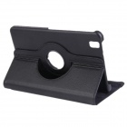 360 Degree Rotation PU Leather Case Cover Stand for Samsung Galaxy Tab Pro 8.4 T320 - Black