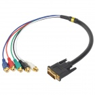 DVI Male to RGBHV Female Cable for Digital TV / Camera + More - Black + Multicolored (52cm)