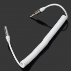 3.5mm Male to Female Spring Audio Extension Cable - White