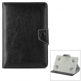 """Universal Stylish Protective PU Leather Case for 7"""" Tablet PC - Black"""