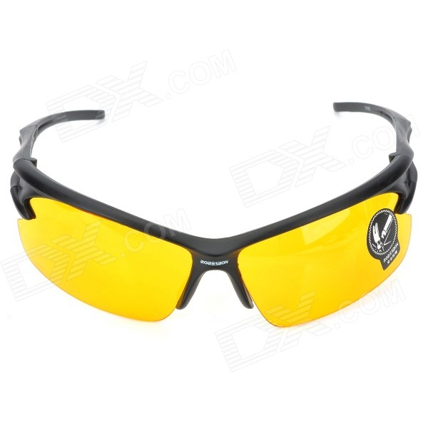 Buy Bicycle Explosion-proof Glasses / Outdoor / Sun Glasses - Yellow with Litecoins with Free Shipping on Gipsybee.com