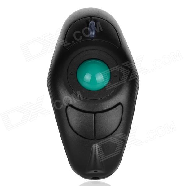Y-10L Wireless Handheld Mouse w/ Built-in Laser Pointer - Black + Green