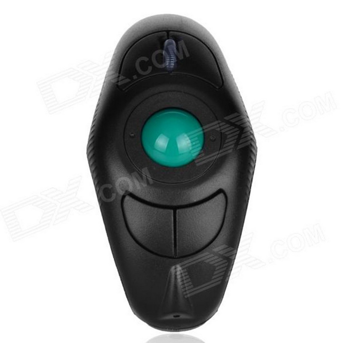 Buy Y-10W Wireless Handheld Mouse w/ USB Receiver - Black + Green with Litecoins with Free Shipping on Gipsybee.com
