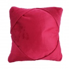 3-in-1 Multifunction U-Shape Car Travel Neck Pillow / IPAD Holder Pillow - Red