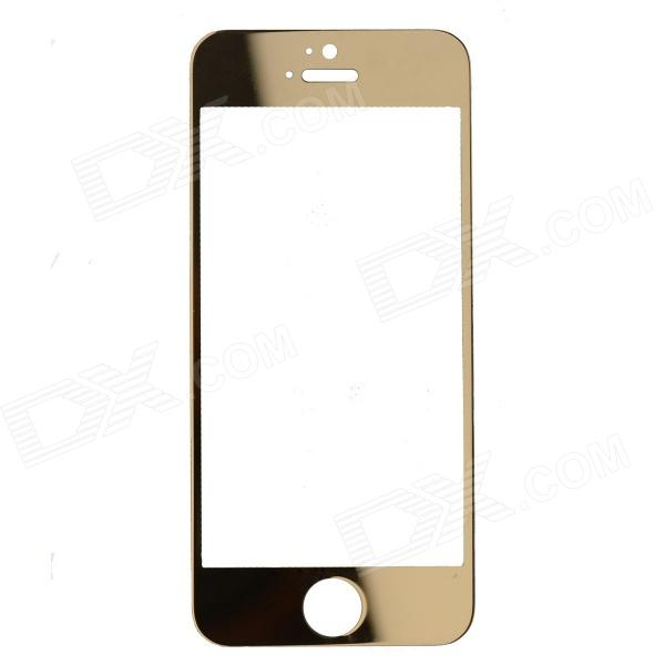 ROCS Colorful Mirror Tempered Glass Screen Protector for IPHONE 5 / 5S / 5C - Golden