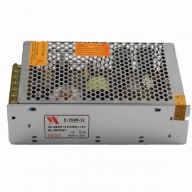 S-150W-12 AC 110~220V to DC 12V 12.5A 150W Switching Power Supply - Grey + Silver