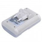 2014 New Edition Goop 802 High Quality Standard Charger for AA / AAA / 9V with EU Plug - Silver