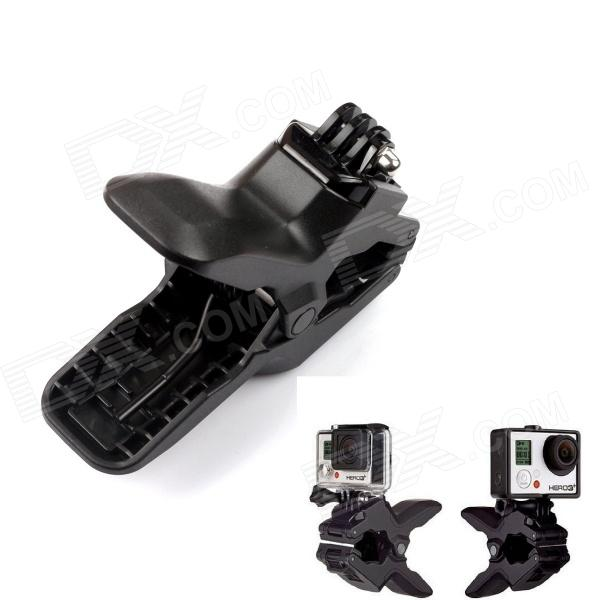 Fast Release Plate Clamp Flexible Mount w/ Flat Buckle for Gopro HeroMounting Accessories<br>Form ColorBlackBrandPANNOVOModelG-256MaterialPlastic + steelQuantity1 DX.PCM.Model.AttributeModel.UnitTypeMonopodRetractableNoMax.Load1 DX.PCM.Model.AttributeModel.UnitOther FeaturesClips range: 0.6cm to 5cmShade Of ColorBlackCompatible ModelsGoPro Hero 1,GoPro Hero 2,GoPro Hero 3,GoPro Hero 3+,GoPro Hero 4Packing List1 x Flexible Mount1 x Flat Buckle<br>