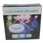 Sunflower 8W RGB 48LED Light 2-Mode Auto / Sound Control Bühnenlampe - Weiß