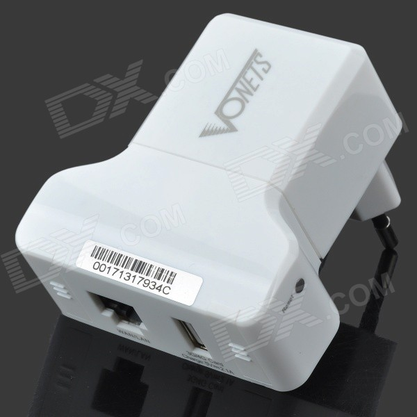 VONETS VRP300 Wireless Mini Wi-Fi AP Repeater 3G Router - White (EU Plug)