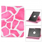 Protective PU Leather Case for Samsung Galaxy Tab 3 10.1 P5200 - Deep Pink + White