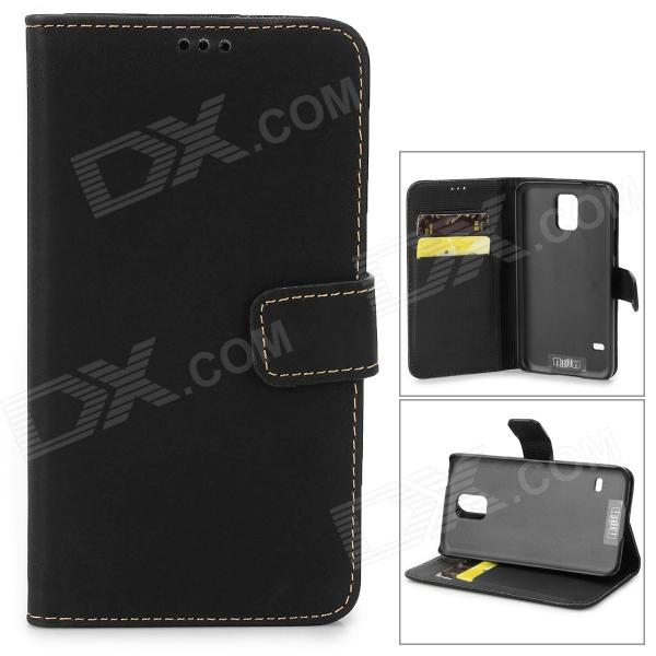 IKKI Protective PU Leather Flip-open Case w/ Stand / Card Slot for Samsung Galaxy S5