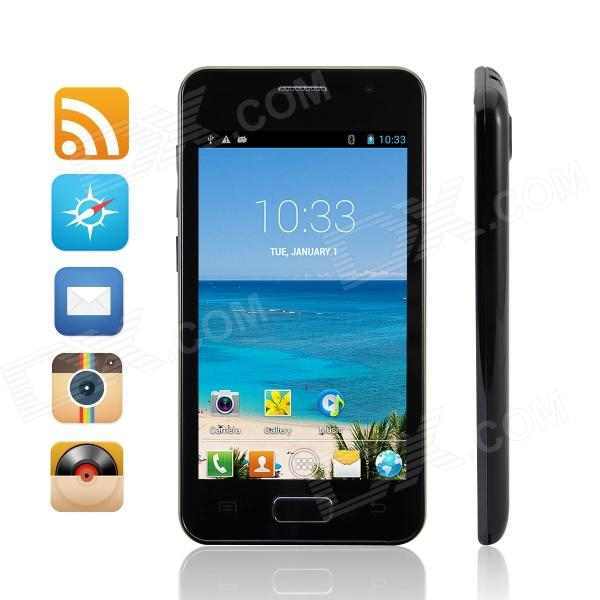 "S2 MTK6572 Dual-Core WCDMA Android 4.2 Bar Phone w/ 4.3"", 512MB RAM, 1GB ROM - Black"
