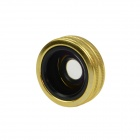 3-in-1 Aluminum Alloy Ring Universal Clip Wide Angle + Macro Lens + Fisheye Set for Phone - Golden