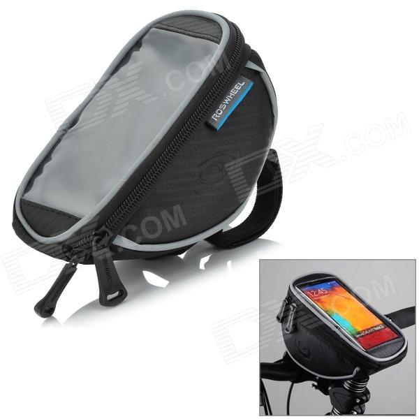Buy ROSWHEEL Bike Bicycle Handlebar Cellphone Bag w/ Touch Screen Window with Litecoins with Free Shipping on Gipsybee.com