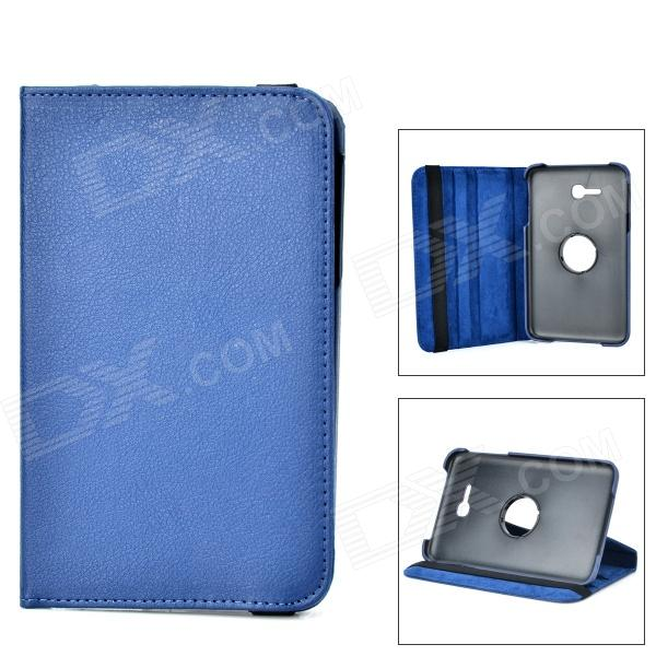 360 Degree Rotary Flip Open PU Case w/ Stand + Stylus for Samsung Galaxy Tab 3 Lite T110