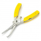 Saince 1232312 Multifunctional Cable Cutting Bent Nose Fishing Pliers - Yellow + Silver