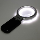 TH-7006B 3X Magnifier w / 10-LED Lights - Black + Silver + Transparent