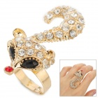 UBE UTY 8007 Fox Style Zinc Alloy Decorative Ring for Women - Golden
