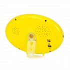 "2.4GHz Wireless 3.5"" LCD 1/4"" CMOS Night Vision Monitoring Camera for Baby - Yellow + White"