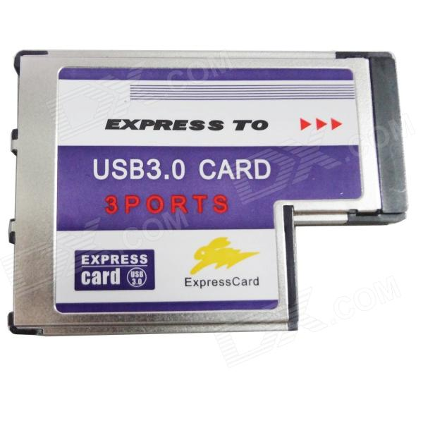 Buy WBTUO BC718 Notebook Express to 3-Port USB 3.0 (54MM FL1100) Expansion Card for Laptop - Silver with Litecoins with Free Shipping on Gipsybee.com