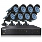SANNCE P2P HDMI 8-CH DVR +8 x 800-TVL Cameras CCTV Security System w/ 1 TB HDD (For NTSC Country)