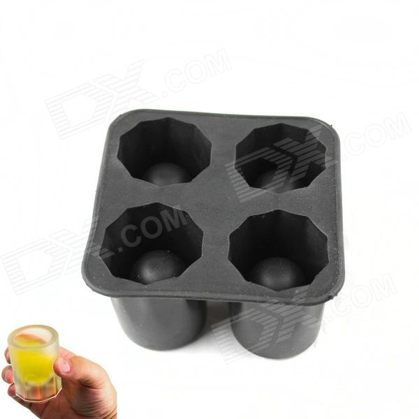 Wineglass Ice Cubes Mold - BlackFood Molds<br>Form  ColorBlackMaterialSiliconeQuantity1 DX.PCM.Model.AttributeModel.UnitPacking List1 x Mold<br>