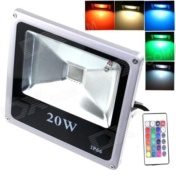 ZHISHUNJIA-IP66-20W-1800lm-LED-7-Color-Project-Light-w-Remote-Controller-Gray-(857e265V)