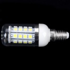 E14 4W 245lm 6000K 36 x SMD 5050 LED Witte Licht Corn Lamp Met Transparante Cover - (85 ~ 265V)