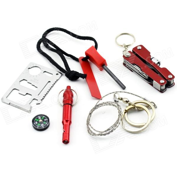 MaiTech Outdoor Portable SOS Emergency Equipment Package - Red