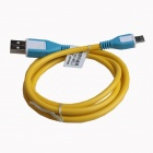 WX13 Micro USB 5-Pin Male to USB 2.0 Male Data Sync / Charging Cable - Yellow + Blue (92cm)
