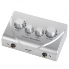 Stereo 6.5mm Karaoke Sound Mixer Microphone Amplifier - Silver