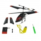 Brilink BH15 Iphone/Ipad/Ipod Controlled Rechargeable 3-CH R/C I-Helicopter w/ Gyro - Black + Red
