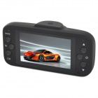"F11 2.7"" TFT LCD CMOS 3.0MP 2-Camera Car DVR w/ G-Sensor / Mic / 6-LED / TF / Mini USB - Black"