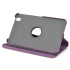360 Degree Rotary Protective Flip Open Case w/ Stand for  8.4'' Samsung T320 Galaxy Tab Pro - Purple